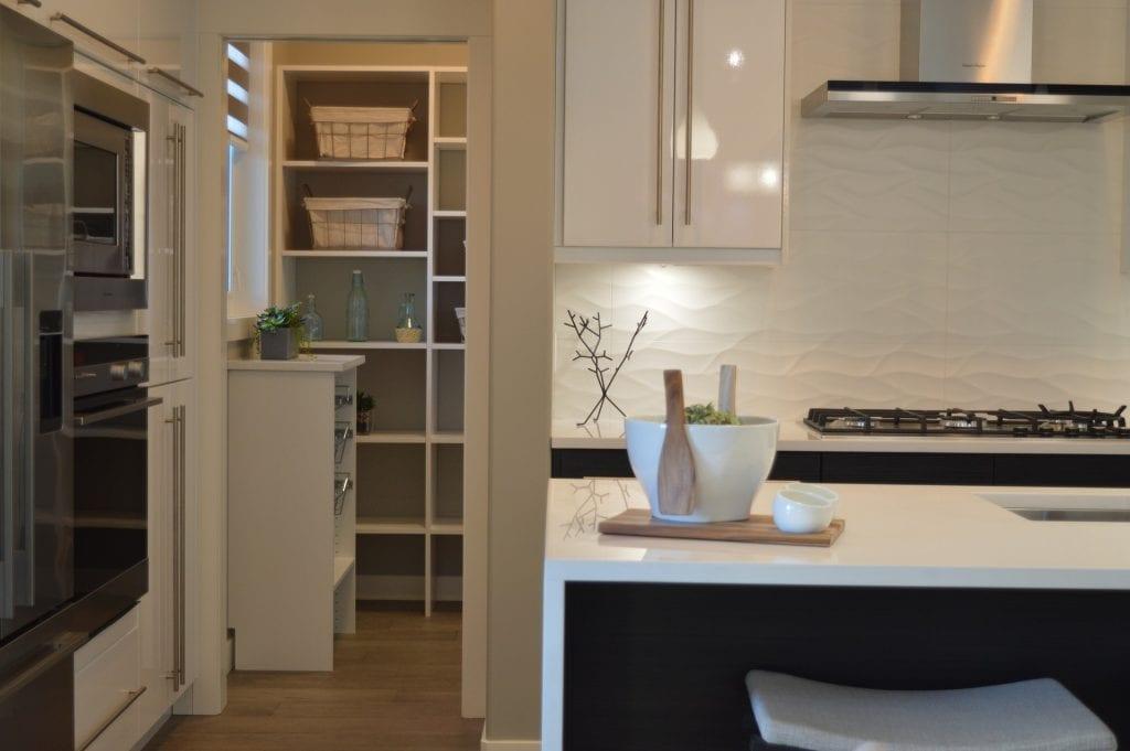 kitchen photo showing pantry